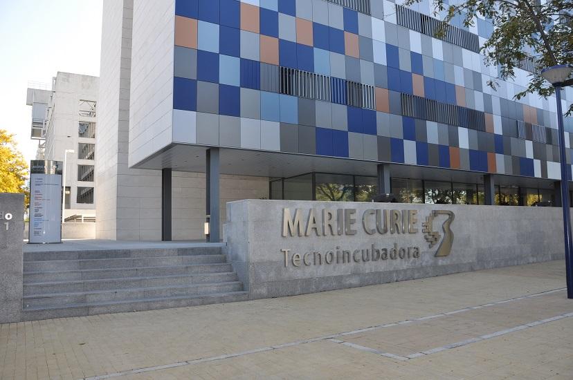 Oficina en Tecnoincubadora Marie Curie Entrada